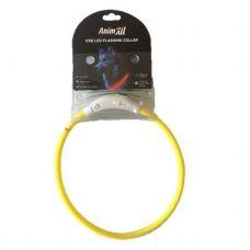 Animall ошейник LED 35см желтый