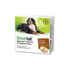 Drontal таблетка антигельминная для собак больших размеров